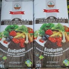 Kompostinė žemė EcoGarden 20ltr