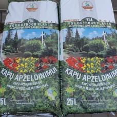 Kompostinė žemė Kapams 25ltr